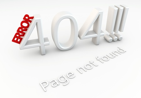 Written 404 error page not found Stock Photo - 16241424