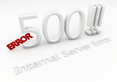error message: Write Error 500     Internal Server Error Stock Photo