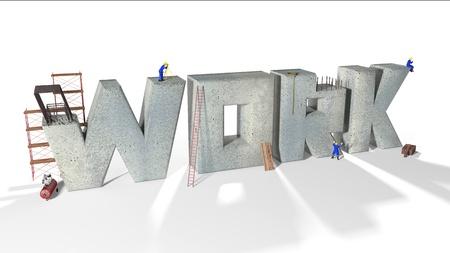 Written work built by vaus workers and vaus equipment Stock Photo - 16353005