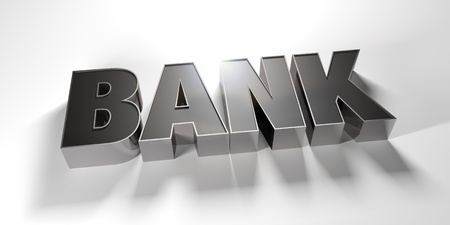 A Bank write made by steel with white background Stock Photo - 16708516