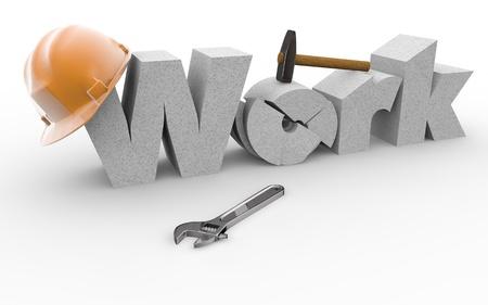 Written work built by vaus workers and vaus equipment Stock Photo - 17359426