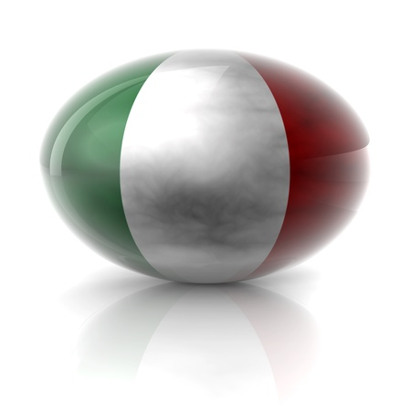 A italian grunge sphere with white background and reflection Stock Photo - 17677347