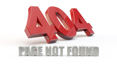 Red 404 error with white background and shadow Stock Photo - 17677352