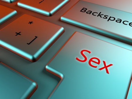 Find sex online with a sex key in a elegant keyboard photo