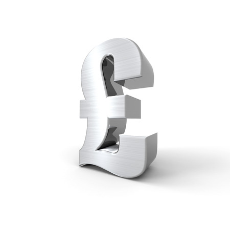 silvered: Silvered pound symbol with a white