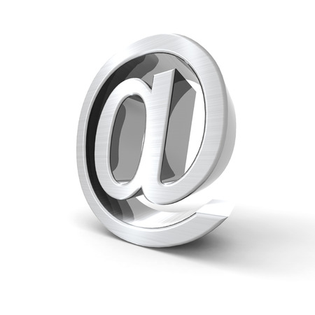 silvered: Silvered email symbol with a white