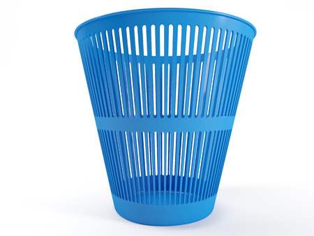 waste basket: Plastic waste basket with a white background