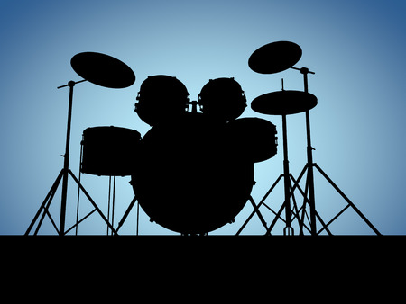 cymbal: Silhouette drum set