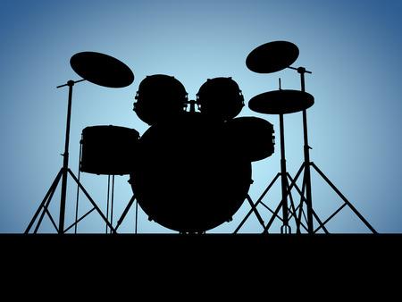 Silhouette drum set