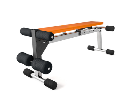 3d rendering of a multifunctional bench for abdominal and lifting Reklamní fotografie - 76728756