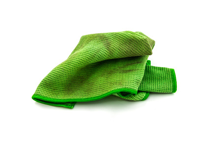 car clean: dirty rag isolated on white background Stock Photo