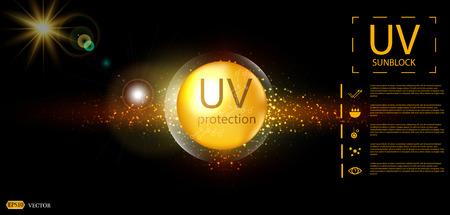 UV protection or ultraviolet sunblock icon Vector illustration design.