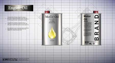 bottle engine oil background, vector illustration 免版税图像 - 102124358