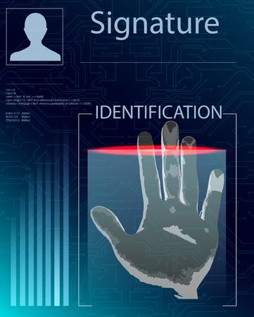 Identification System Scanning. Illustration