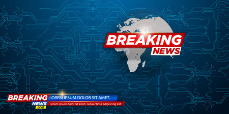 News vector background, breaking news. Can be used for blog background or technological or business news article backdrop. Ilustrace