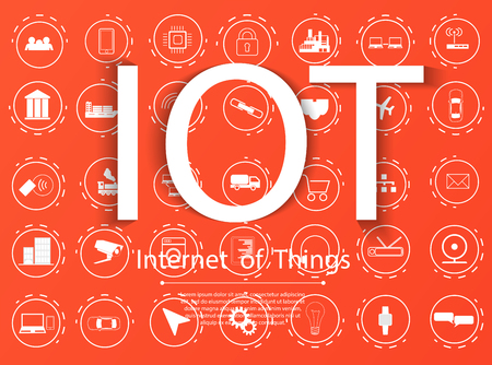 Internet of things (IoT) and networking concept for connected