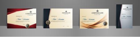 Certificate best award diploma set. Certificate of Appreciation template.