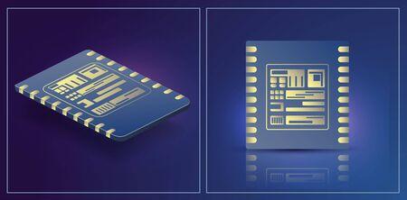 eSIM card chip sign. Embedded eSIM concept. SIM Embedded eSIM card icon symbol concept. new chip mobile cellular communication technology..  vector illustration