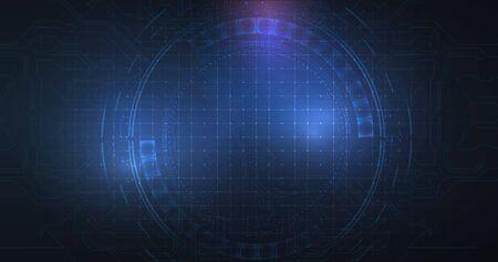 Abstract blue technology concept background. High Tech digital Electronics illustration.Vector illustration. Иллюстрация