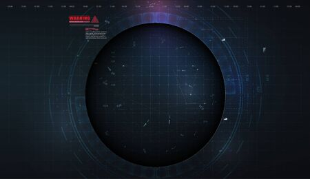 Abstract modern futuristic, engineering, science, technology background. Hi tech digital connect, communication, high technology concept. Innovation background Circle empty space for your text. Vector illustration
