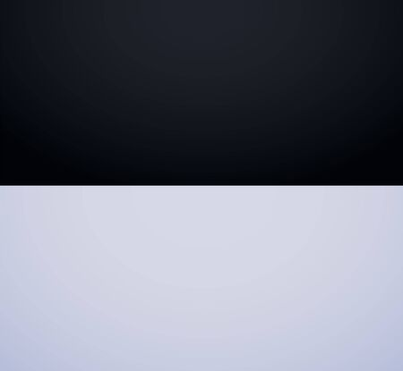 White Gray and black gradient background. Smooth White Gray with Black Studio Banner. Vector illustration Иллюстрация