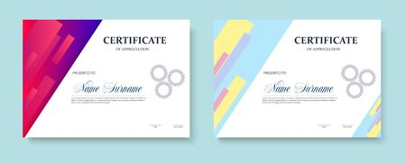 Certificate of appreciation template design. Trendy geometric design. Layered. Vector eps10 Vectores