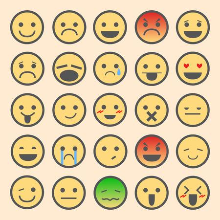 yawn: Emoticon Set color