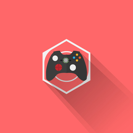 gaming: Gaming Gear Flat Icon Joystick