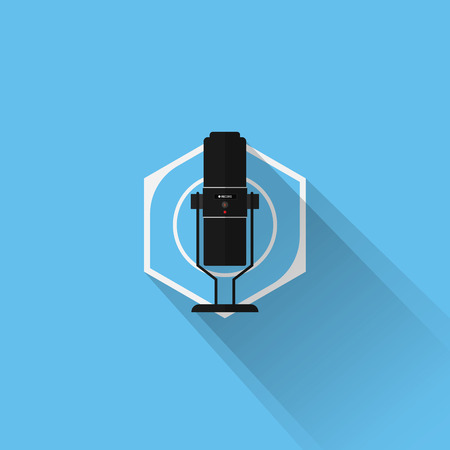condenser: Gaming Gear Flat Icon Microphone