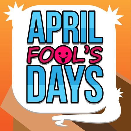 days: April Fool Days Text Vector art Illustration