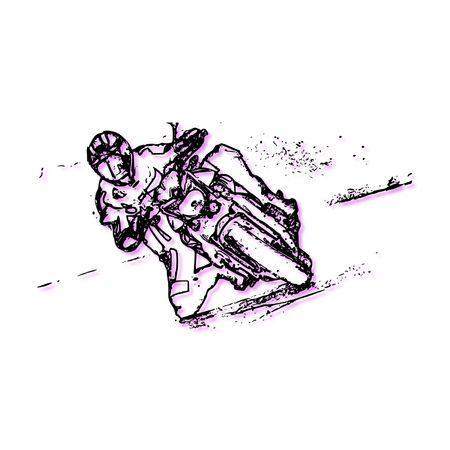 racing bike: The image represents the stylized form of racing bike