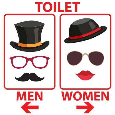 Toilet Sign Ladies Gentleman Men Women