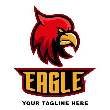 Eagle Head E Sport  Icon  イラスト・ベクター素材