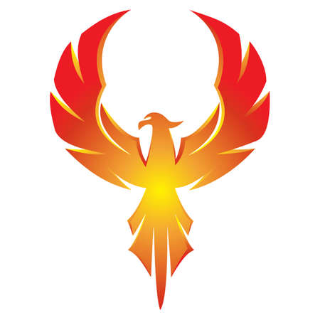 Phoenix Eagle Logo Red Gradation