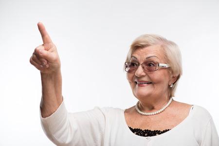 seniority: Grandmother posing in sunglasses