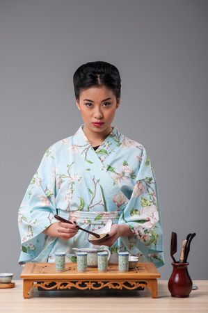 for tea: Getting ready for tea ceremony