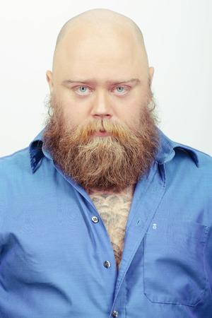 funny bearded man: Creative and funny bearded man