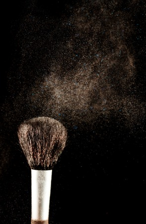 skintone: Brush and a powder spread out