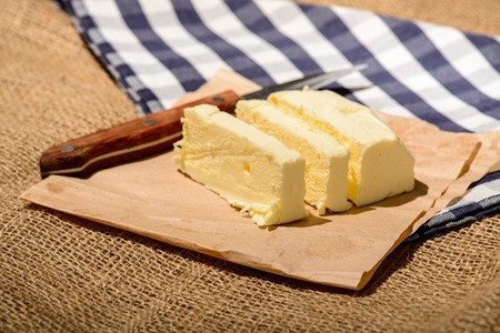 butterfat: Closeup image of a delicious butter Stock Photo