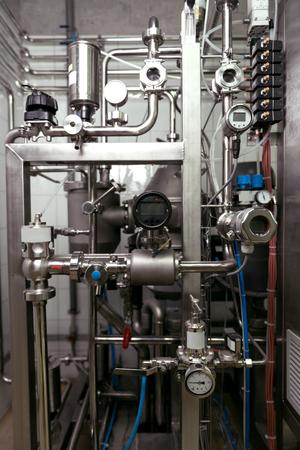 brasserie: Close up of brewing mechanisms