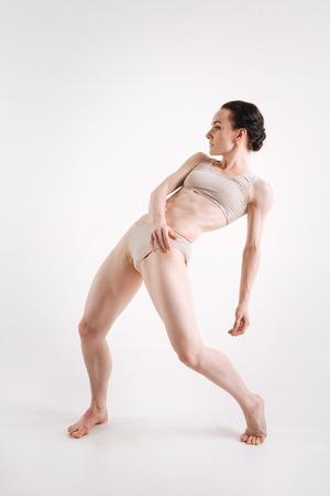 principal: Magnificent principal dancer performing in the studio Foto de archivo