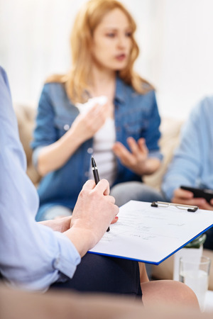 psychologists: Psychologists notes written during the psychological session