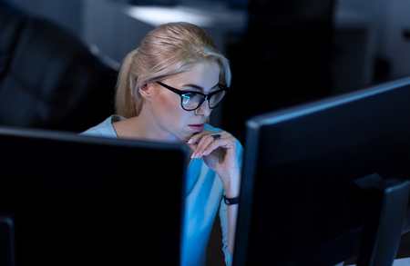Confident hacker working on solving online password codes