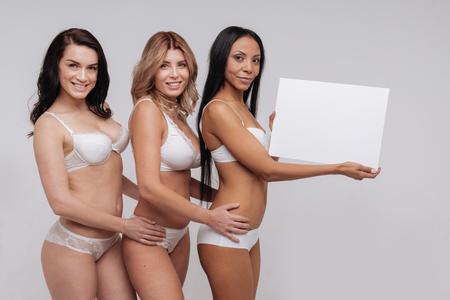 Sexy classy modern women wearing lingerie