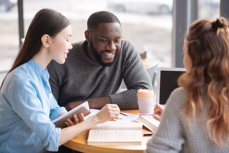 Group of young people studying together Stock Photo