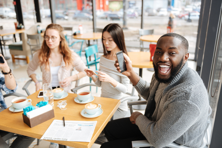 International students spending time together Stock Photo