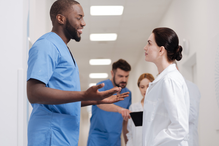 opinions: Involved practitioners sharing opinions in the hospital