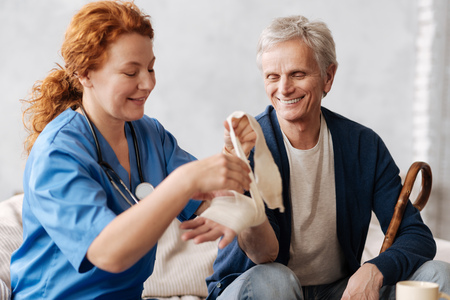 Caring proficient nurse coping with an injury