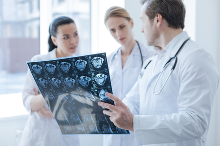 Involved radiographs discussing computed tomography result in the clinic