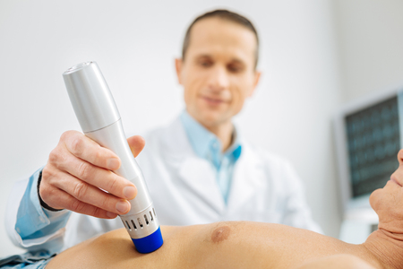Professional technology. Selective focus of an ultrasound device used for medical examination